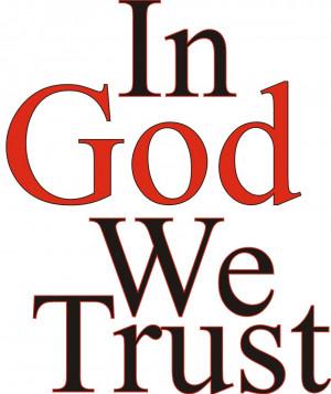 Put your trust in God.