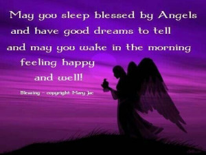 May you sleep blessed - Good night
