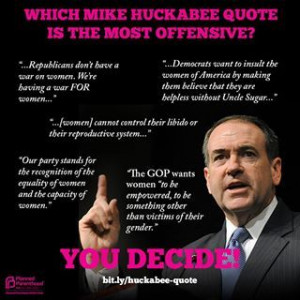 Which Mike Huckabee quote is the most offensive? You decide! | In my ...