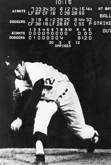 Sandy Koufax throws his no hitter