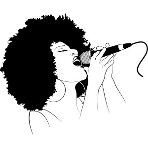 Female Singer Wall Art Decals Wall Stickers Transfers