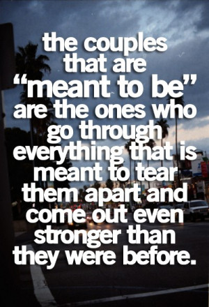 ... Everything That Is Meant To Tear Them Apart And Come Out Stronger