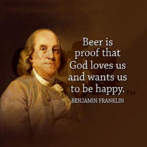 ben franklin quote beer and