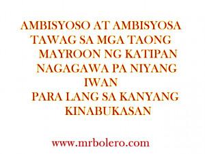 tagalog Quotes AMBISYOSO AT AMBISYOSA Tagalog Quotes and Patama Quotes