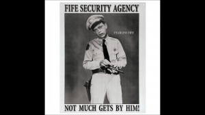 Barney Fife Security Agent Tin Sign