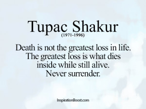 Loss Quotes – Tupac Shakur