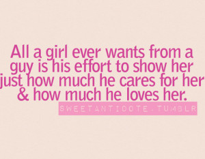 All A Girl Ever Wants From A Guy