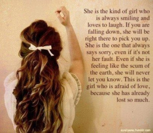 Im The Type Of Girl Quotes Tumblr I am like this girl :'(
