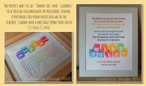 Thank you/Goodbye Teacher gift