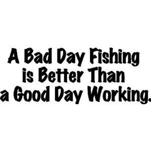 EYE CANDY SIGNS A Bad Day Fishing...Fishing Wall Quotes Words Sayings ...