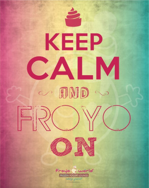 Love Froyo frozen yogurt!!