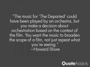 The music for 'The Departed' could have been played by an orchestra ...