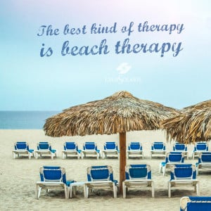 The best kind of therapy is beach therapy.