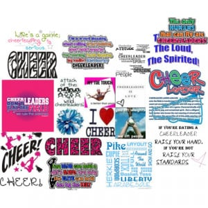 Cheer Shirts With Quotes Cheer sayings polyvore