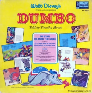 Walt Disney's Dumbo - The Story and Songs by Disneyland Records