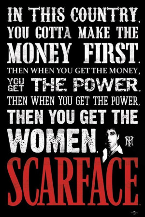 Poster Scarface In This Country, Tony Montana, Al Pacino