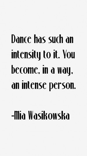 Mia Wasikowska Quotes & Sayings