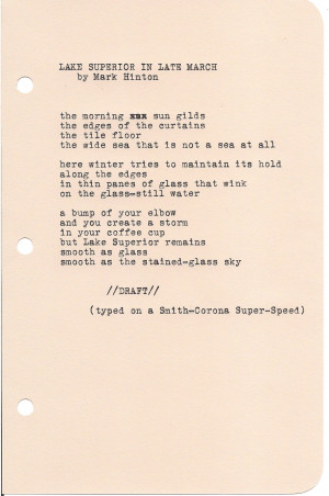 Poem Lake Superior Late