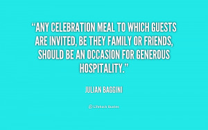 Any celebration meal to which guests are invited, be they family or ...
