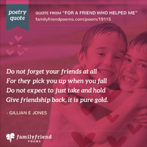 ... fit in a card or e mail www poems ource com friendship poems html