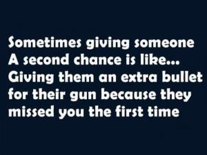 Second chances....