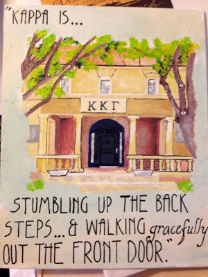 Kappa Kappa Gamma House with Quote! Also pretty sure this is the Texas ...