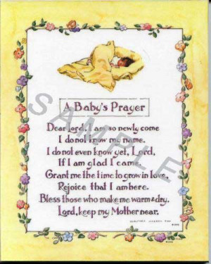 prayer for baby boy baptism