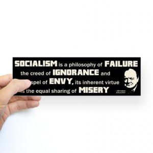 ... > 2Nd Amendment Auto > Churchill Socialism Quote Sticker (Bumper