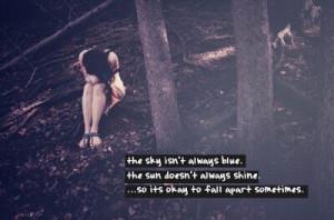 It's okay to fall apart sometimes..