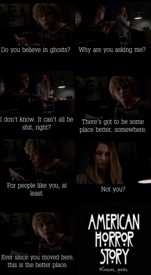 ... , American Horror Stories, Tate Langdon Quotes, 9851800, Tate Violets