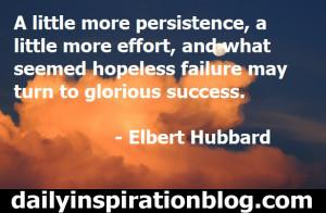 Elbert Hubbard quotes persistence quotes