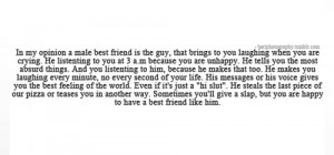 Topic: Male best friend quotes