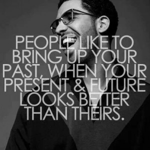 People and your past vs. Your future.