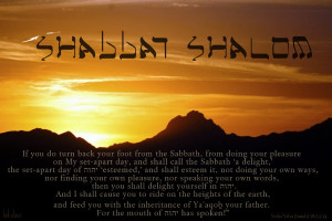 If you do turn back your foot from the Sabbath,
