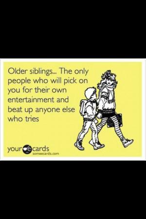 Older siblings