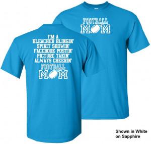 football mom 2 t shirt from $ 20 00 football