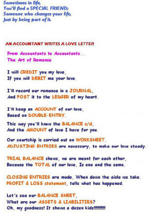 Smith a graduate of Accounting, wrote a letter to his Girl Friend ...