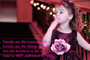 sweet-small-girl-give-flying-kiss-friendship-quotes-messages-photos-HD ...