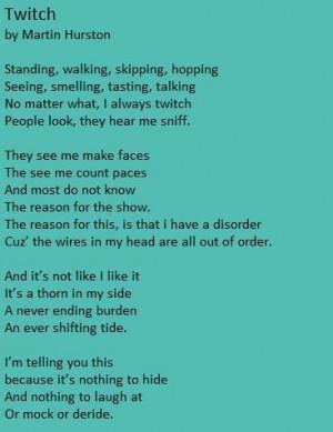Tourette Syndrome ~ Awareness Movement