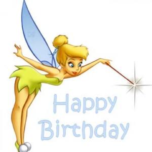 Tinkerbell Birthday Card Image