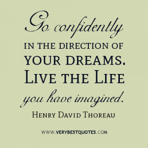 your dreams quotes, Henry David Thoreau quotes