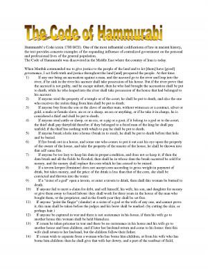 hammurabis code of laws essay