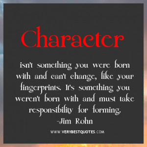 Character quotes, Jim Rohn Quotes, responsibility quotes