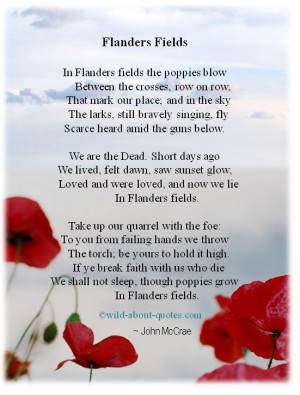 Flanders Fields.. Lest we forget...