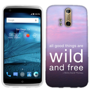 The Wild And Free QOTD Quote ZTE Axon PRO Phone Cover Case features a ...