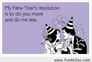 Funny new year's resolution for 2014 in a funny card - Funny Picture