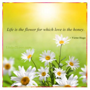 quotes life is a flower of which love is the honey life sayings