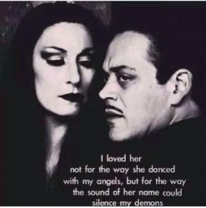Morticia and Gomez Addams- true love