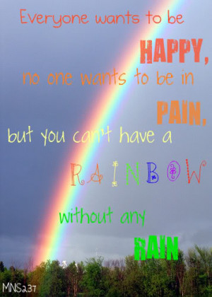 Go Back > Gallery For > Rainbow And Rain Quotes