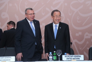 on Drugs and Crime (UNODC) with U.N. Secretary-General Ban Ki-moon ...